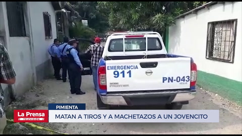 Matan a tiros y a machetazos a un jovencito en Pimienta, Cortés