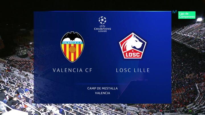 Champions League: Resumen y Goles del Valencia - Lille