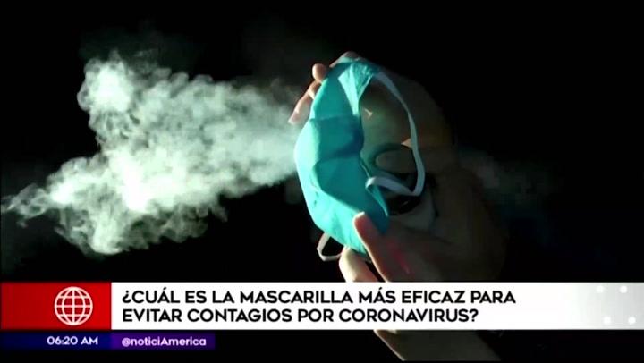 Coronavirus: ¿Cuál es la mascarilla más eficaz para prevenir contagios de COVID-19?