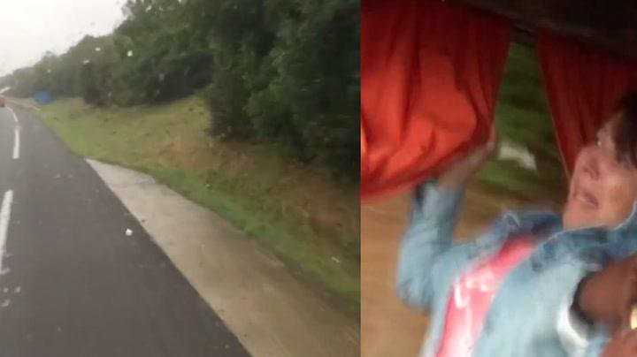 Filmet da bussjåføren sovnet bak rattet