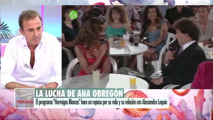 Alessandro Lecquio se emocionó al recordar a su hijo Álex en el estreno del programa 'Hormigas Blancas'