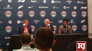 Gregg Popovich speaks after Team USA scrimmage