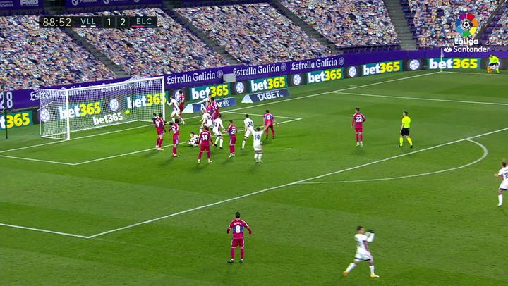 Gol de Joaquín (2-2) en el Valladolid 2-2 Elche