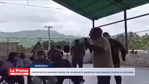 Opositor de Maduro muere de un infarto mientras discursaba contra el régimen