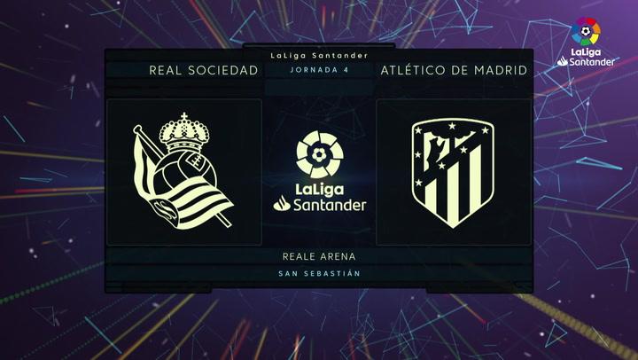 LaLiga (J4): Resumen y goles del Real Sociedad 2-0 Atlético de Madrid