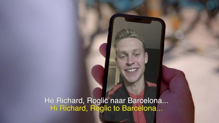 Roglic renueva con Jumbo Visma en un anuncio con 'cameo' de Frenkie De Jong