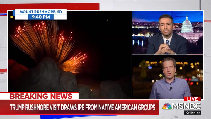 MSNBC's Perry: Trump Made July 4th Event 'All About Patriotism' and History 'With No Sense of Irony' That It Was on Native Land