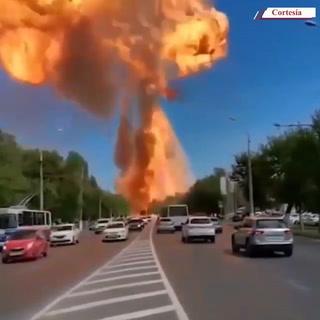 Camión cisterna con gas estalló en una estación de gasolinera en Rusia