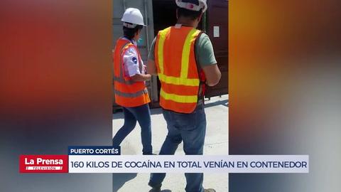 160 kilos de cocaína en total venían en contenedor de Puerto Cortés