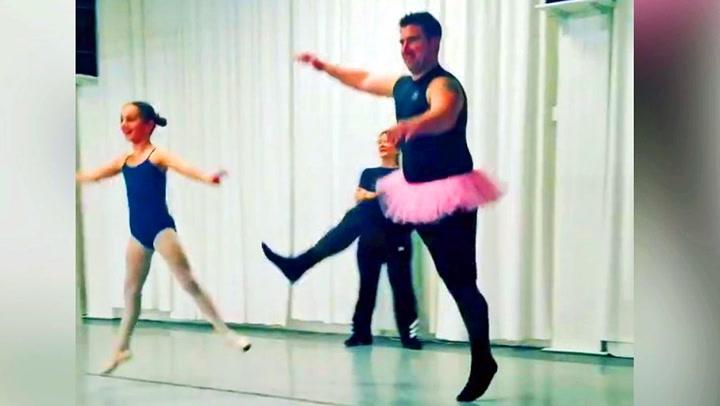 Pappa-balletten vil garantert få deg til å smile