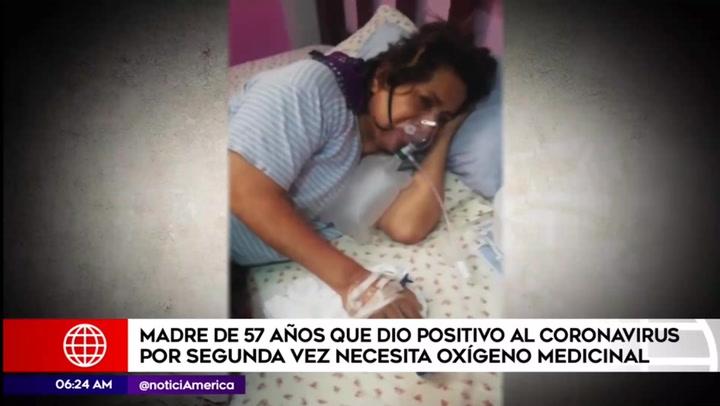 Mujer pide ayuda para conseguir oxígeno medicinal tras contagiarse de COVID-19 por segunda vez