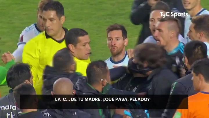 La bronca de Messi a un técnico de Bolivia