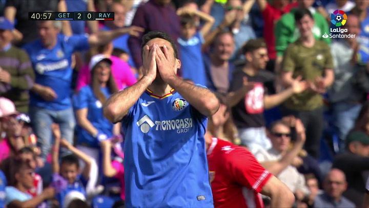 LaLiga: Getafe-Rayo Vallecano. Gol anulado a Jorge Molina