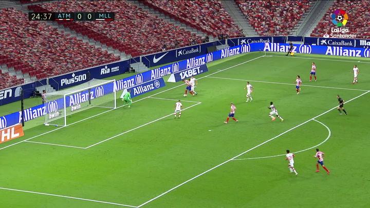Gol de Morata (p.) (1-0) en el Atlético de Madrid 3-0 Mallorca