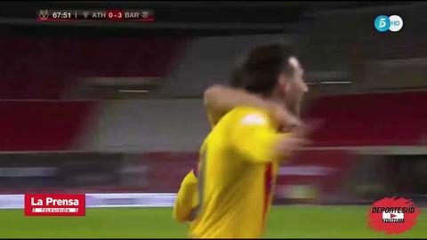El doblete de Messi en la final de la Copa del Rey 2021