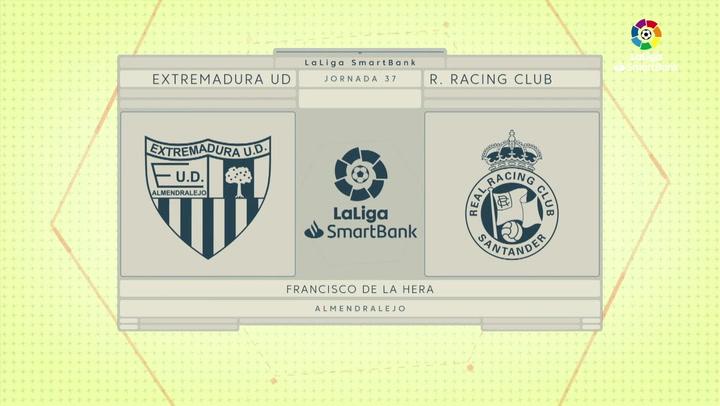 LaLiga Smartbank (Jornada 37): Extremadura 3-1 Racing