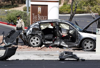 Las Vegas police discuss the first fatal crash of Labor Day weekend