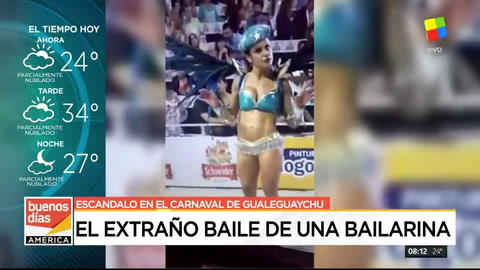 La pasista eufórica del carnaval de Gualeguaychú que provocó un escándalo