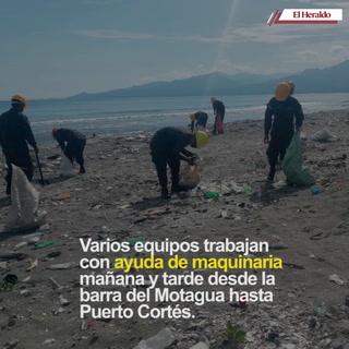 58 kilómetros de playa continúa en limpieza por contaminación en Omoa
