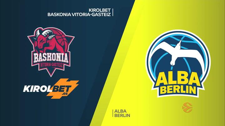 Euroliga: KIROLBET Baskonia Vitoria-Gasteiz - ALBA Berlin