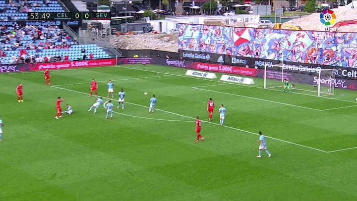 Gol de Rafa Mir (0-1) en el Celta 0-1 Sevilla
