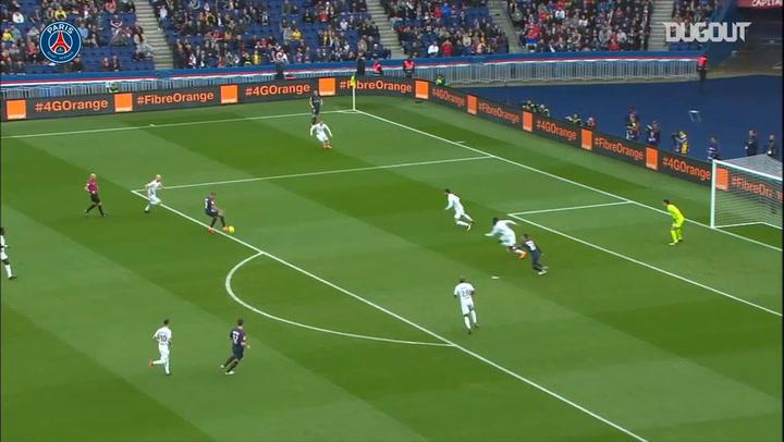 Paris Saint-Germain's five goals vs Metz in 2018