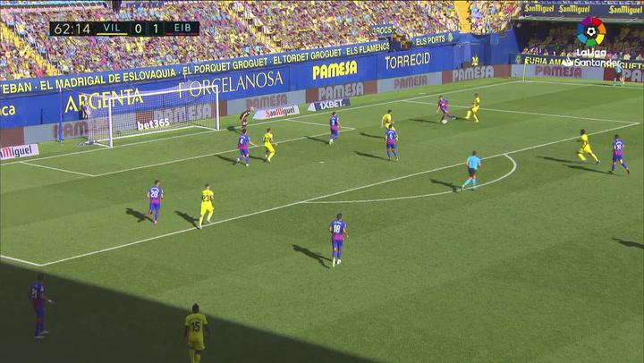 Gol de Gerard Moreno (1-1) en el Villarreal 2-1 Eibar