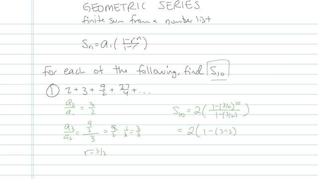 Geometric Series - Problem 13