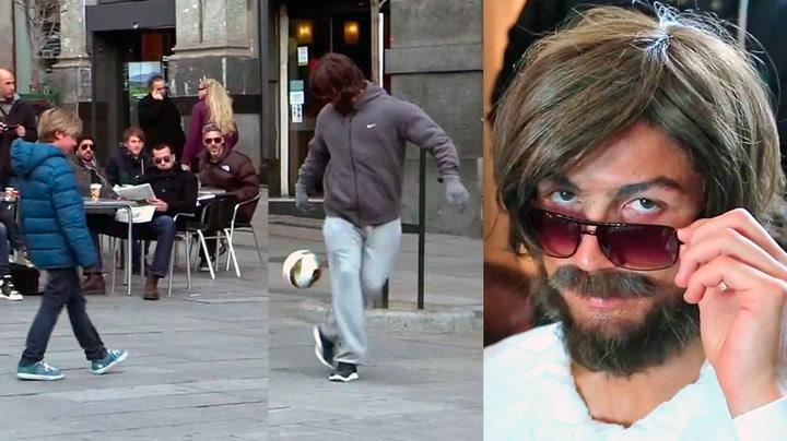 «Hjemløs mann» spiller fletta av alle på gata