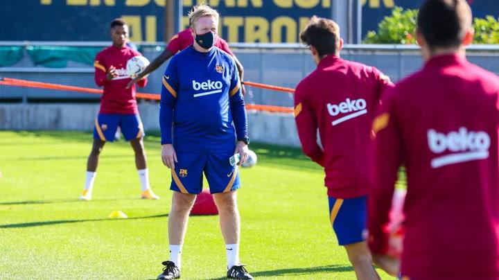 Entrenamiento del FC Barcelona el 11 de septiembre de 2020