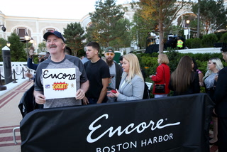 People line hours ahead of opening for Encore Boston Harbor