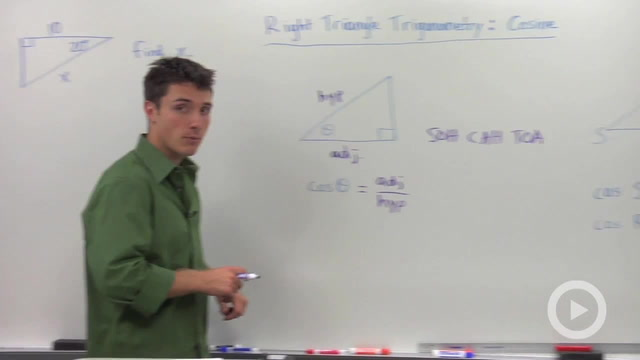 Trigonometric Ratios: Cosine - Problem 2