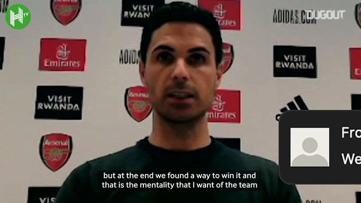 Arteta happy but still lots to improve on after West Ham win