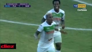 Yerson Gutiérrez en contragolpe firma doblete y Platense está recetado paliza a Marathón