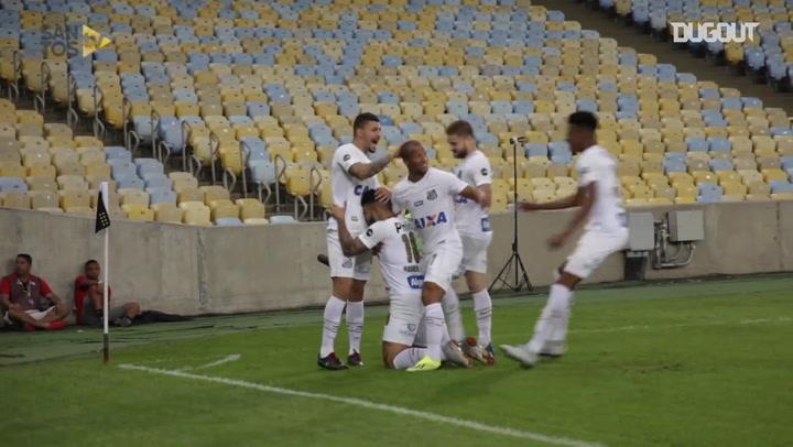 Gabriel Barbosa's hat-trick vs Vasco da Gama