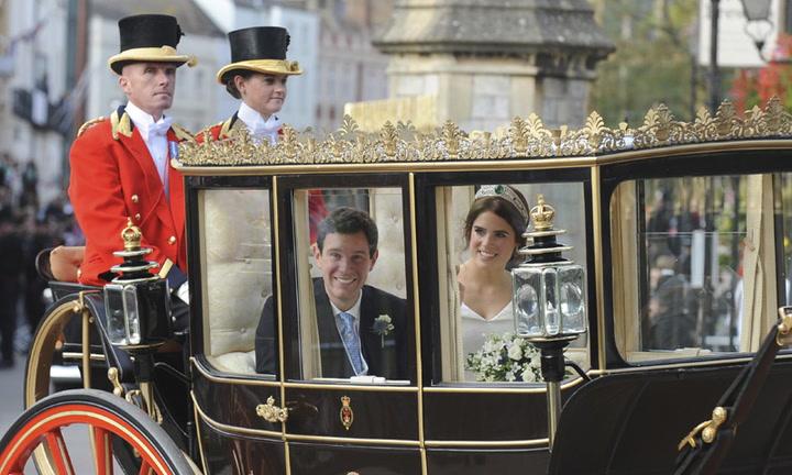 La princesa Eugenia y Jack Brooksbank realizan su primer recorrido como recién casados