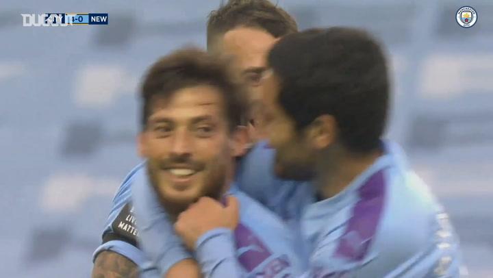 David Silva's inch-perfect free-kick sinks Newcastle