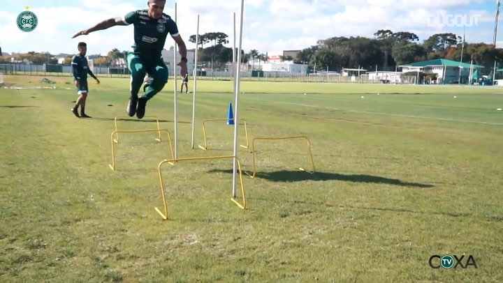 Coritiba complete the first training session of the week