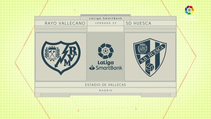 LaLiga SmartBank (J29): Resumen y goles Rayo Vallecano 2-0 Huesca
