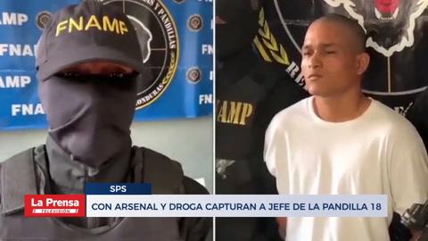 Con arsenal y droga capturan a jefe de la pandilla 18