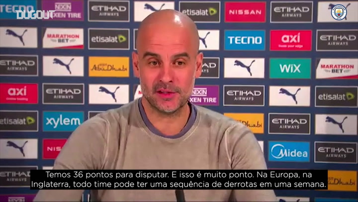 "Guardiola desconversa sobre vantagem na liderança: ""ainda falta muito"""