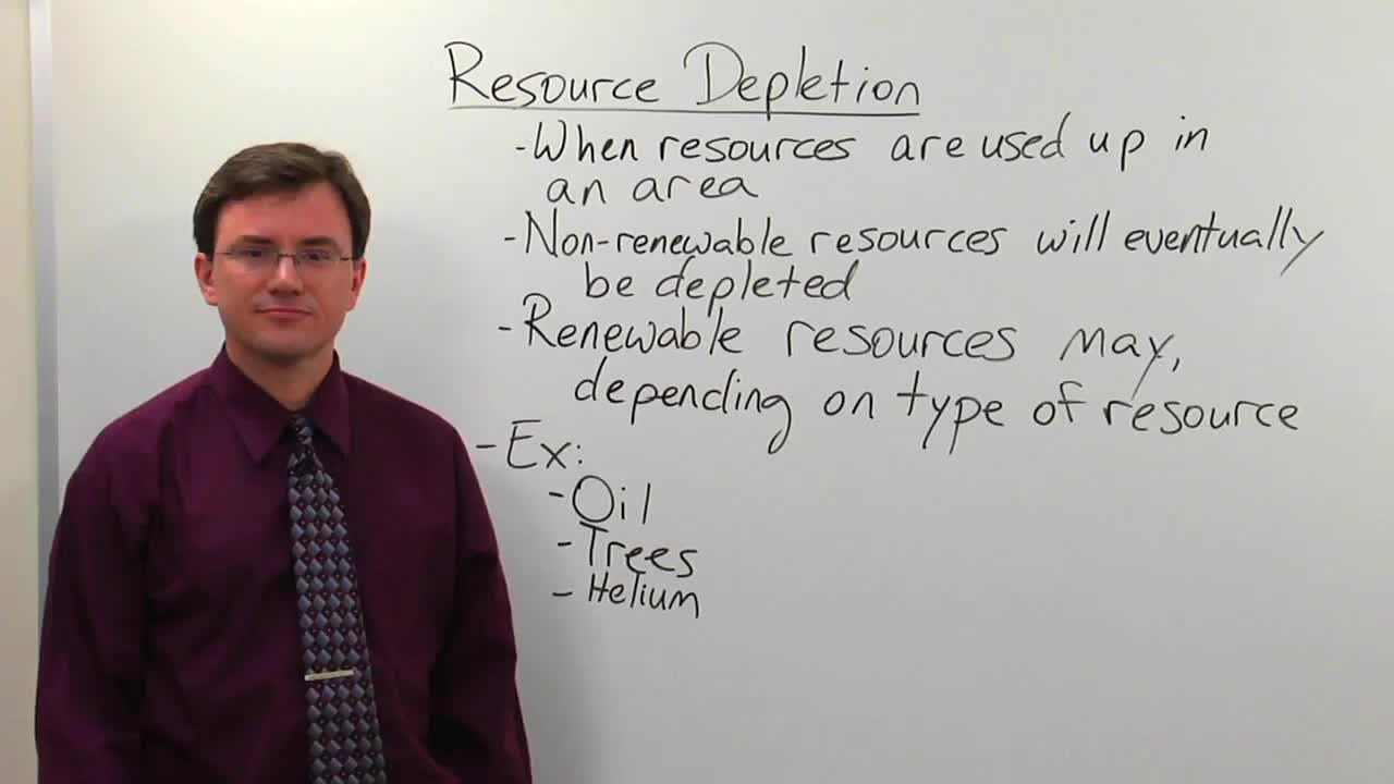 Natural Resource Depletion - Biology Video by Brightstorm