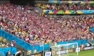World Cup: Fans chant at U.S.A. vs. Germany