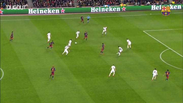 Team Goals: Leo Messi Vs Roma