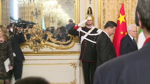Presidente chino elogia en Italia una alianza sin problemas