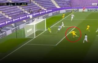 Griezmann y el monumental fallo frente al portero en el Real Valladolid-Barcelona