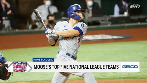 Who are the Top 5 teams in the National League?