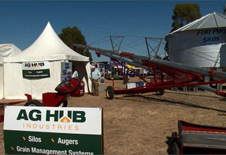 AgHub Industries displays grain handling equipment at