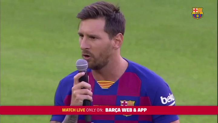 Discurso íntegro de Messi antes del Gamper
