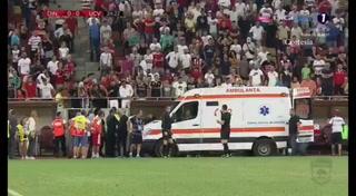 Técnico del Dinamo de Bucarest sufre infarto en pleno partido
